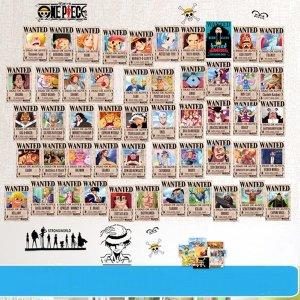 원피스 151가지 포토 카드 현상금 수배서 스티커 중형