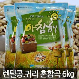 렌틸콩+귀리 혼합17곡 6kg (2kg x 3개) 최저가 대방출