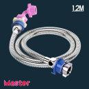 세탁기연결 급수호스 스텐레스세탁기호스1.2M(온수)