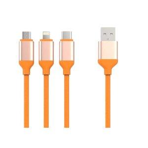 엠엠아이테크놀로지 3in1 멀티 충전전용 케이블(1.2m)