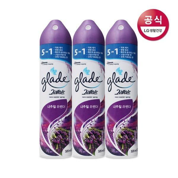 그레이드 미스트 공기탈취제 내추럴라벤더 3개.
