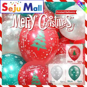 크리스마스 인쇄풍선-17pcs 50003번 - (1봉지-10개)
