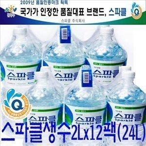 스파클 생수2L(12개)/샘물/암반수/석수/초정리