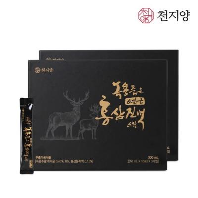 [천지양] 천지양 녹용품은 홍삼진액 스틱 2박스 총 60포+쇼핑백