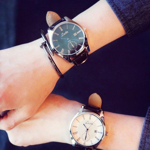 커플 패션시계 여성 가죽밴드 손목시계 앤틱 스타일