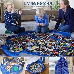 특대형 장난감 정리 매트 정리주머니 블록 레고 놀이