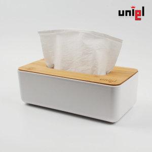 유니엘 원목 각티슈 휴지 케이스 커버 /사각형 XL