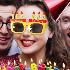 생일파티 케익양초모양 선글라스