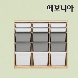노블 키즈 바구니수납장 3단 35형/수납장/정리함