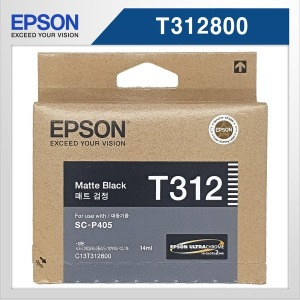 Epson 정품 T3120 (T312800) 매트 검정 잉크 an