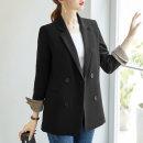여성자켓 체크소매 아우터 여자정장 가을신상 코트