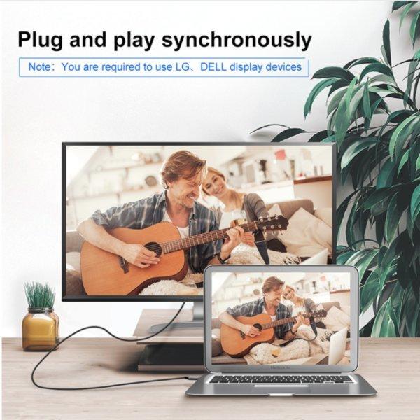 4K Video 모니터 노트북 c타입 고속충전 케이블