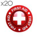 구급 스티커 20장-적십자 응급 구조 대원 구급함 마크