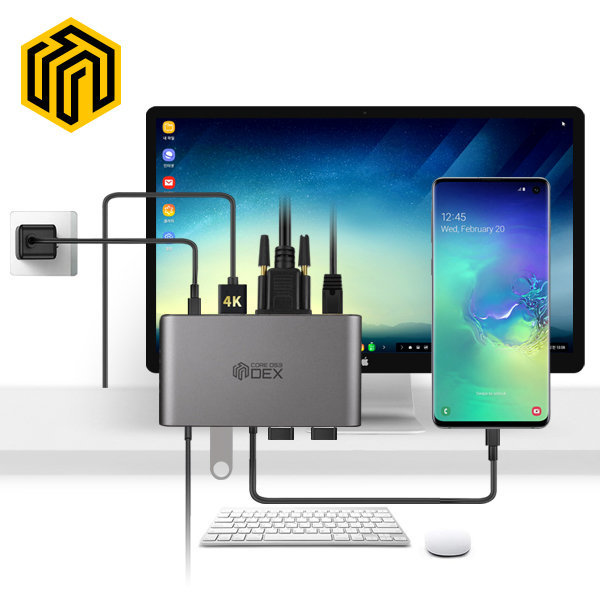 CORE D53덱스 8in1 HDMI 멀티포트 허브