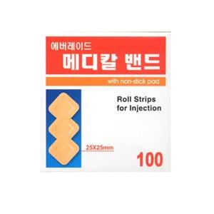 에버레이드 지혈용 메디칼밴드(25x25mm) 100매 x 10통