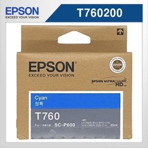 Epson 정품 T760 (T760200) 파랑 잉크 an