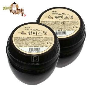 지리산/착한농부/현미조청1kgX2개/100%국산원료