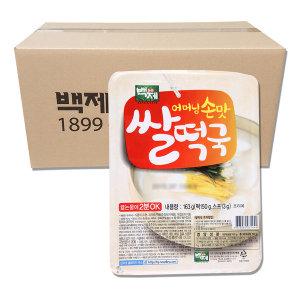 백제 쌀떡국 163g x 24개