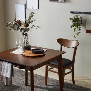 모네스 고무나무 원목 2인 식탁세트