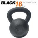 케틀벨 블랙분체 16kg 원조 블랙분체 100%무쇠바디