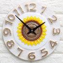인테리어 무소음시계 마블해바라기(W)/결혼선물장식품
