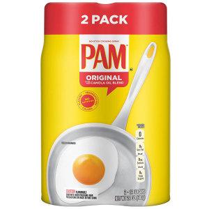 PAM 팸 2개 오리지날 카놀라 12온즈 스프레이 오일