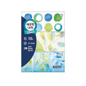 (1+1)깨끗한나라_소프티미용티슈_250매x6입