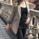 체크여성자켓 캐주얼 신상 정장자켓