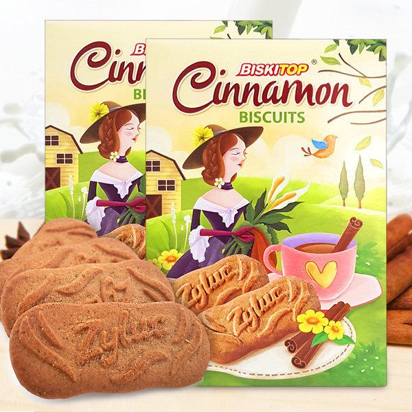 2곽(쿠키40개입) 시나몬 비스킷 고급쿠키 간식 과자