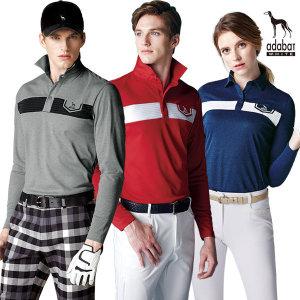 아다바트화이트 긴팔티셔츠 등산 골프티셔츠