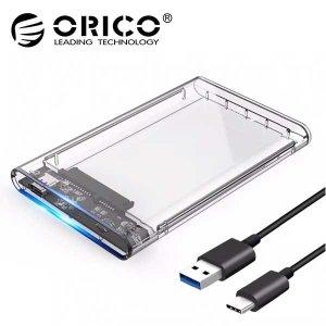 오리코 2139C3 USB-C타입 2.5형 외장케이스 투명