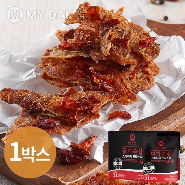 마이닭 닭가슴살 크리스피칩 스파이시 1박스 (25gX10)