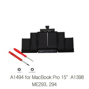 Origianl A1494 배터리 MacBook Pro 15 A1398