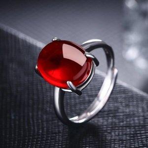 엘스쥬쥬 RS28 Silver 레드 그린 반지 은반지