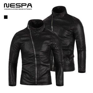 (네스파)  네스파  블랙 가죽자켓 라이더자켓 레더자켓 남성용
