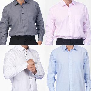 남자셔츠 기본남방 긴팔 체크 면 셔츠 남자 특가 신상