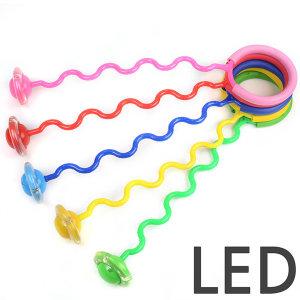 LED 발목줄넘기(1p) s형 한발줄넘기 발줄넘기