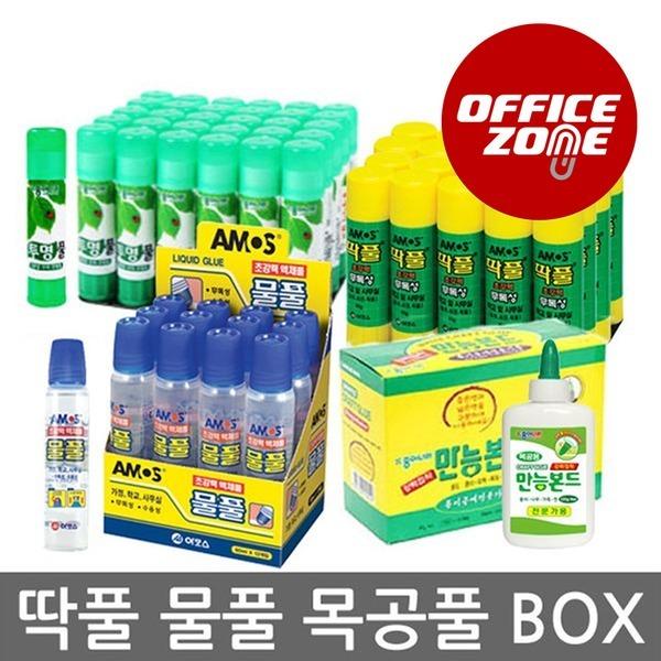 (BOX)박스 1갑 아모스 딱풀 목공풀 물풀 투명풀 35g