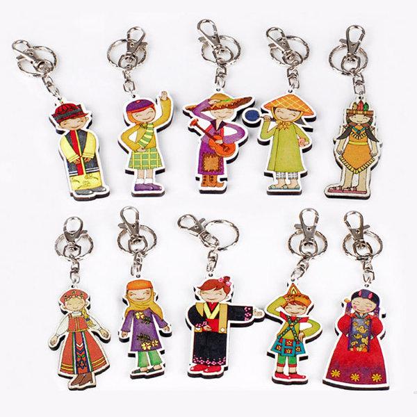 세계 다문화 의상 우드아트 10종 세트 1형(1번~10번)