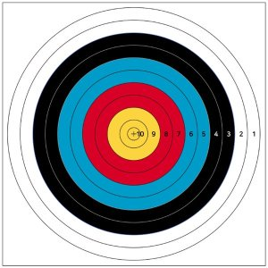 국제양궁과녁 70cm 화살쏘기 활 양궁 타켓 사냥 사격