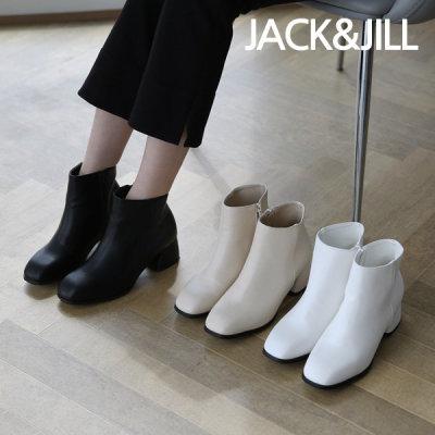 [jack&jill] 잭앤질 5cm 지퍼 미들힐 앵클 부츠(JC9641)