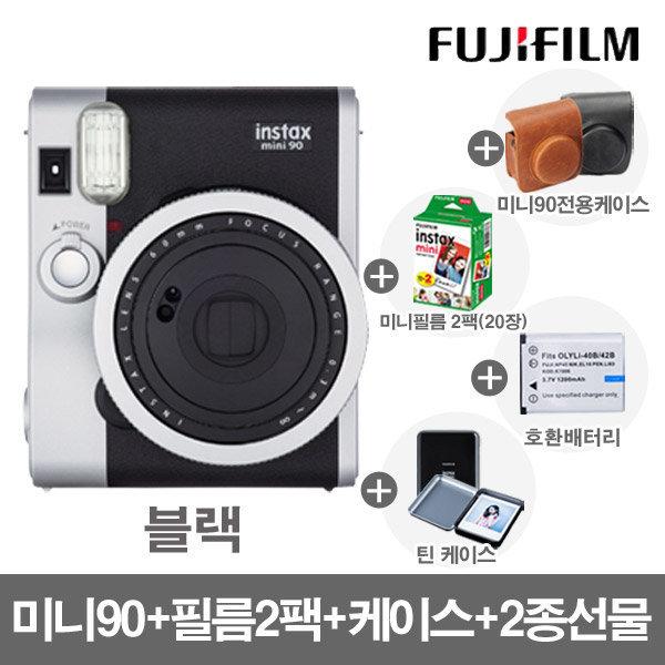 미니90 폴라로이드/카메라 /블랙/필름2P+케이스+2종