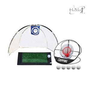 골프 연습용품 풀세트 골프 스윙 네트 매트 연습망