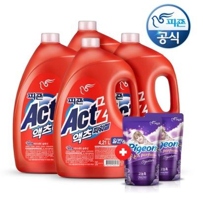 [피죤] 액체세제 대용량 액츠 4.21L(일반) x4개+시그니처300x2