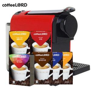 커피로드 캡슐커피머신 + 앙코르 캡슐6종(60캡슐)