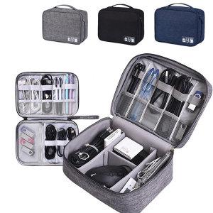 케이블 파우치 충전기 이어폰 이동식디스크 가방 정리