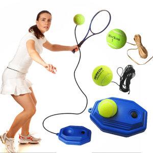 테니스 트레이너 리턴볼 받침대 고무줄 테니스공 연습