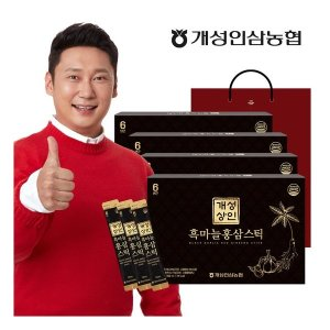 개성상인 흑마늘홍삼스틱 10ml x 30포 x 4박스 / 개성인삼농협