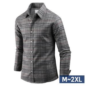 남자 스판 기모 셔츠 긴팔 위캔 체크 남성 남방 sp1644