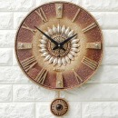 인테리어 무소음시계 로마해바라기(G)/결혼선물장식품